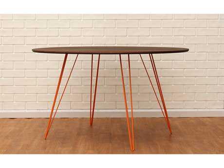 Tronk Design Williams Walnut 54L x 46 Wide Oval Dining Table TROWILDINWALLGOVLOR