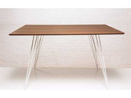 Tronk Design Williams Walnut 54L x 46 Wide Rectangular Dining Table