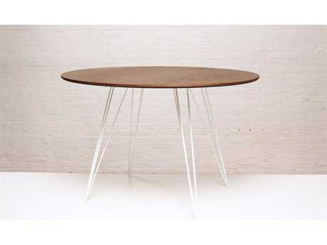 Tronk Design Williams Walnut 46L x 40 Wide Oval Dining Table TROWILDINWALSMOVLWH
