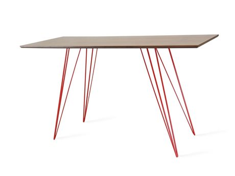 Tronk Design Williams Table Collection Red Computer Desk