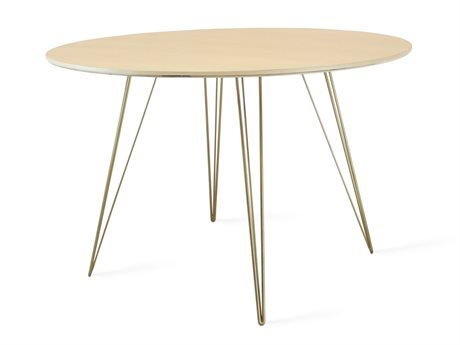 Tronk Design Williams Table Collection Brassy Gold 54'' Wide Oval Dining TROWILDINMPLLGOVLGD