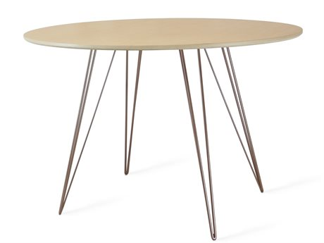 Tronk Design Williams Table Collection Rose Copper 46'' Wide Oval Dining