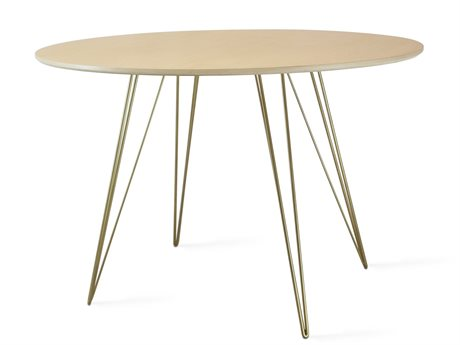Tronk Design Williams Table Collection Brassy Gold 46'' Wide Oval Dining