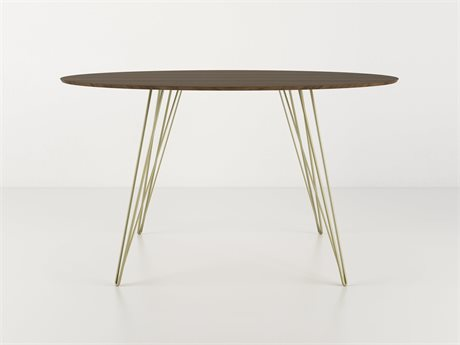 Tronk Design Williams Table Collection Brassy Gold 54'' Wide Oval Dining TROWILDINWALLGOVLGD