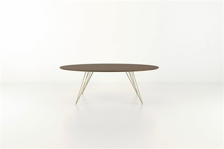 Tronk Design Williams Table Collection Brassy Gold 46'' Wide Oval Dining TROWILDINWALSMOVLGD