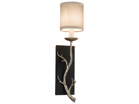Troy Lighting Adirondack Graphite And Silver Leaf 5'' Wide Wall Sconce TLB2841