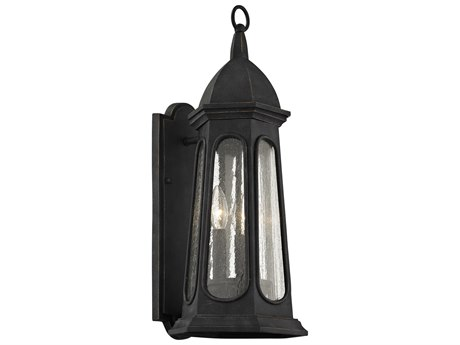 Troy Lighting Astor Vintage Iron Three-Light 9'' Wide Outdoor Wall Light
