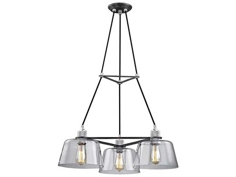 Troy Lighting Audiophile Old Silver & Polished Aluminum Three-Light 27'' Wide Chandelier