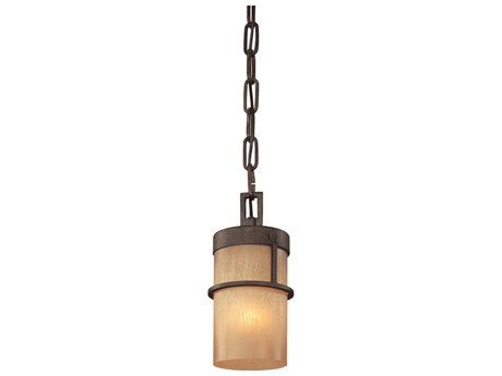 Troy Lighting Bamboo Bamboo Bronze with Natural Slate 5'' Wide Mini-Pendant Light TLF1847BB