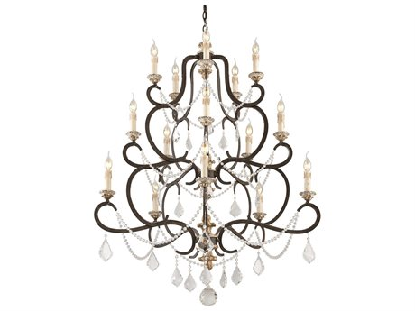 Troy Lighting Bordeaux Parisian Bronze 15-Light 43'' Wide Chandelier
