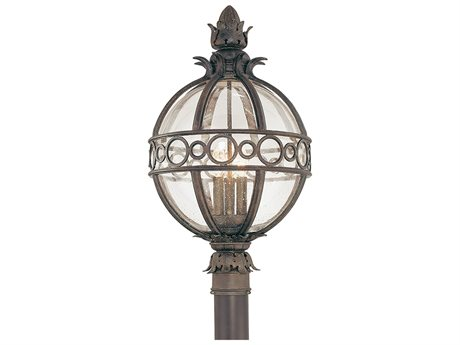 Troy Lighting Campanile Campanile Bronze Three-Light 14'' Wide Outdoor Post Light