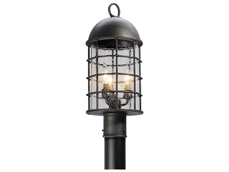 Troy Lighting Charlemagne Aged Pewter Three-Light 9'' Wide Outdoor Post Light