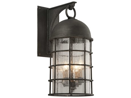 Troy Lighting Charlemagne Aged Pewter Four-Light 11'' Wide Outdoor Wall Light