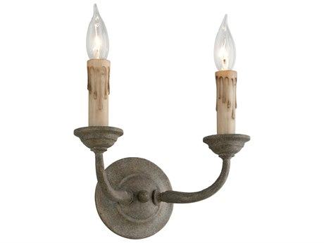 Troy Lighting Cyrano Earthen Bronze Two-Light 11'' Wide Wall Sconce