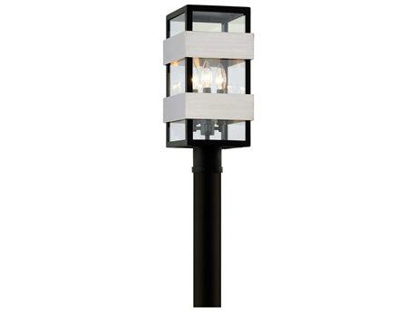 Troy Lighting Dana Point Textured Black Three-Light 8'' Wide Outdoor Post Light