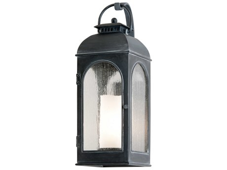 Troy Lighting Derby Antique Iron 8'' Wide Outdoor Wall Light