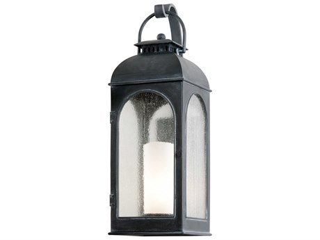 Troy Lighting Derby Antique Iron 10'' Wide Outdoor Wall Light