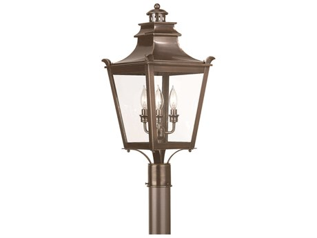 Troy Lighting Dorchester English Bronze Three-Light 11'' Wide Outdoor Post Light
