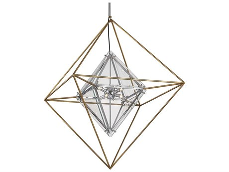 Troy Lighting Epic Gold Leaf Eight-Light 30'' Wide Glass Pendant