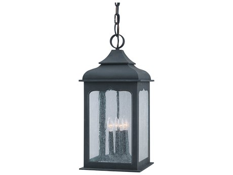 Troy Lighting Henry Street Colonial Iron Four-Light 11'' Wide Outdoor Hanging Light