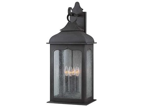 Troy Lighting Henry Street Colonial Iron Four-Light 11'' Wide Outdoor Wall Light