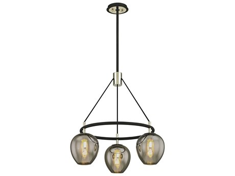 Troy Lighting Iliad Carbide Black Three-Light 26'' Wide Chandelier
