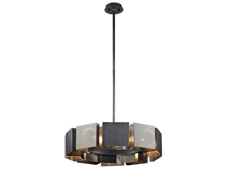 Troy Lighting Impression Graphite & Satin Nickel Ten-Light 28'' Wide Pendant Light