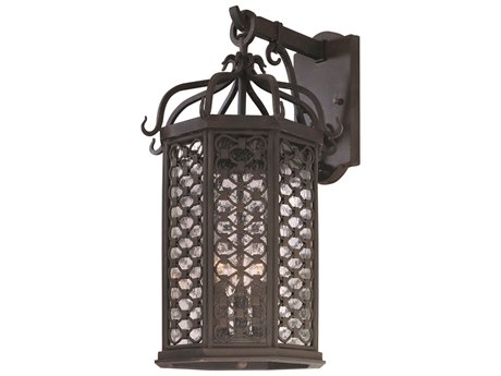 Troy Lighting Los Olivos Old Iron Three-Light 11'' Wide Outdoor Wall Light