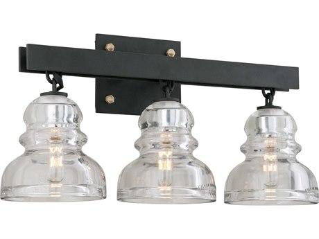 Troy Lighting Menlo Park Deep Bronze Three-Light 21'' Wide Vanity Light TLB3963