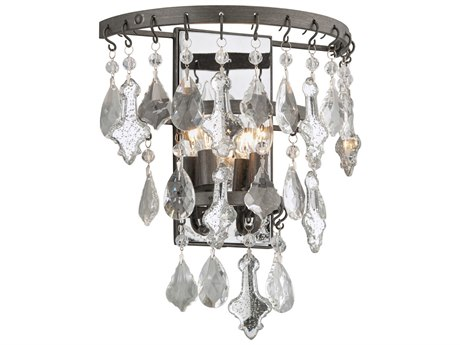 Troy Lighting Meritage Graphite Two-Light 12'' Wide Wall Sconce