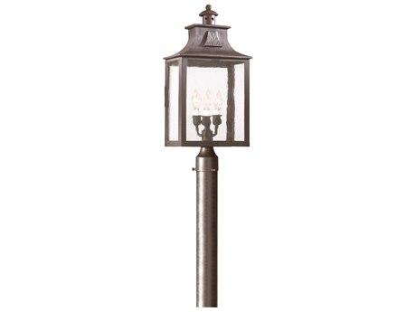 Troy Lighting Newton Old Bronze Three-Light 11'' Wide Outdoor Post Light