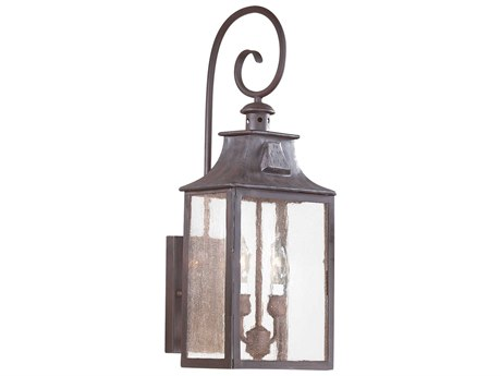 Troy Lighting Newton Old Bronze Two-Light 9'' Wide Outdoor Wall Light TLBCD9002OBZ