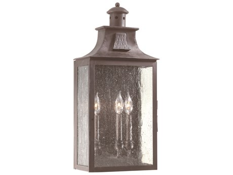 Troy Lighting Newton Old Bronze Three-Light 11'' Wide Outdoor Wall Light TLBCD9009OBZ