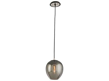 Troy Lighting Odyssey Carbide Black and Polished Nickel 9'' Wide Mini-Pendant Light