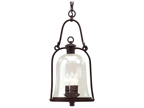 Troy Lighting Owings Mill Natural Bronze Three-Light 10'' Wide Outdoor Hanging Light