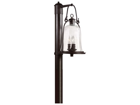 Troy Lighting Owings Mill Natural Bronze Three-Light 10'' Wide Outdoor Post Light