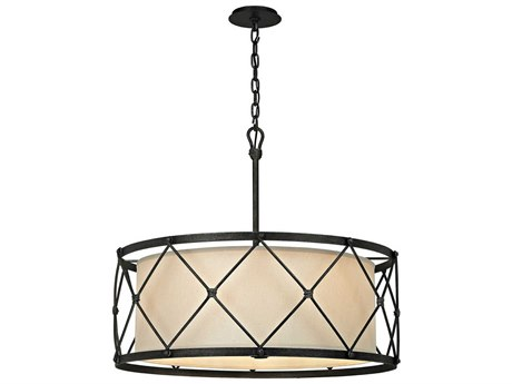 Troy Lighting Palisade Aged Pewter Six-Light 29'' Wide Pendant Light