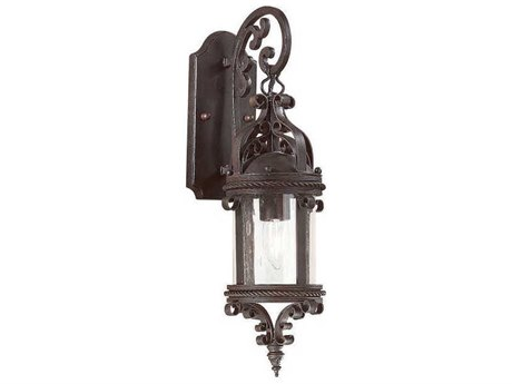 Troy Lighting Pamplona Old Bronze 6'' Wide Outdoor Wall Light TLBCD9121OBZ