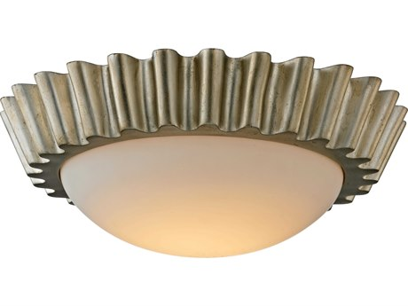 Troy Lighting Reese Silver Leaf 16'' Wide LED Flush Mount