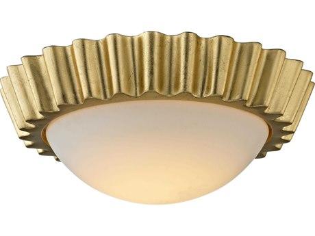 Troy Lighting Reese Gold Leaf 13'' Wide LED Flush Mount
