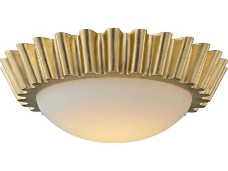 Troy Lighting Reese Gold Leaf 16'' Wide LED Flush Mount