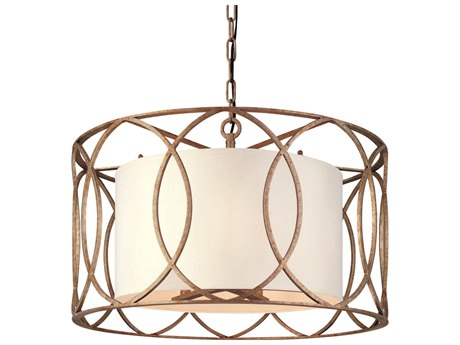 Troy Lighting Sausalito Silver Gold Five-Light 25'' Wide Pendant Light