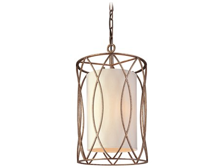 Troy Lighting Sausalito Silver Gold Three-Light 13'' Wide Pendant Light TLF1287SG