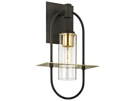 Troy Lighting Smyth Dark Bronze 10'' Wide Outdoor Wall Light