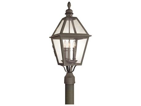 Troy Lighting Townsend Natural Bronze Three-Light 11'' Wide Outdoor Post Light