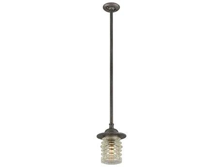 Troy Lighting Watson Charred Zinc 8'' Wide Outdoor Hanging Light