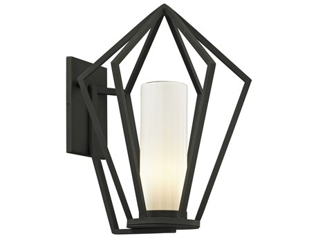 Troy Lighting Whitley Heights Textured Black 14'' Wide Outdoor Wall Light