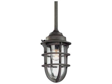 Troy Lighting Wilmington Nautical Rust 6'' Wide Outdoor Hanging Light