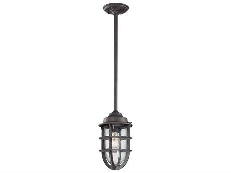Troy Lighting Wilmington Nautical Rust 7'' Wide Outdoor Hanging Light