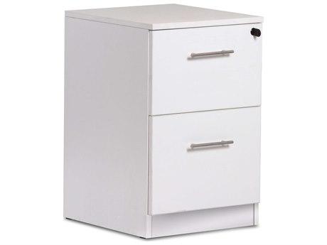 Unique Furniture 100 Series White Two Drawer 19'' x 20'' File Cabinet
